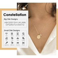 Carlidana Engrave Name Necklaces Women Custom Constellation Choker Necklace 316L Stainless Steel Letter Chokers