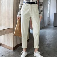 Women's Pants & Capris GIGOGOU M-XL Women Harem Elastic High Waist Ankle-length Trousers With Belt Solid Peg Leg Workwear Carrot Bottom
