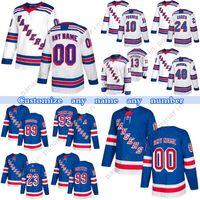 Custom York Rangers Hockey Jerseys 8 Jacob-TrouBa 24 Kaapo Kakko 13 Alexis-Lafeniere 93 Mika Zibanejad Qualquer número e nome