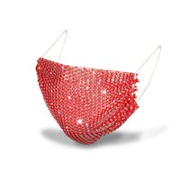 Tasarımcı Rhinestone Maskesi Lüks Parlayan Maskeleri Kadınlar Için Gelgit Sokak Parti Gece Kulübü Fasceear 11 Renkler 292 S2