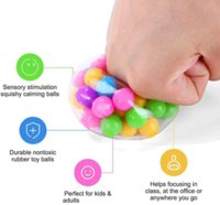 2021 Últimas Últimas bola de presión del arco iris Fidget Juguete DNA Cuentas de colores Bola de alivio TPR Pegamento suave de uva Burr Pinch Pinch Squeeze Día de los niños Regalo