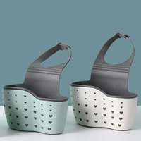 Cestas colgando cocina jabón esponja drenaje rack ajustable baño holde amor patrón fregadero estante almacenamiento cesta accesorios lavado