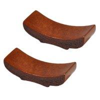 6 stücke Boot Form Design Holz Essstäbchen Rack Rest Essstäbchen Halter Praktische Unterstützung für Hausküche