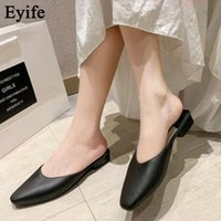 Sandals Summer Mules Women 2021 Fashion Elegant Soft Leather Ladies Closed Toe Non-Slip Comfortable Dress Party Female Slippers