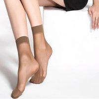 Female Short Socks Women's Socks Thin Crystal Transparent Silk Socks Girl Ankle Sox