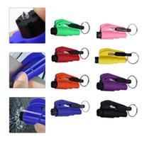 Tragbare Multicolor-Auto-Sicherheitshammerfeder-Fluchtfenster-Fensterbrecher-Punch-Sicherheitsgurt-Schneider Keychain Autozubehör