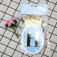 Bailarina de ballet papel corona feliz cumpleaños banner decoraciones de fiesta niños guirnalda niño niña niño montaje adulto favores suministros 2165 v2