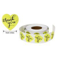Gold Round remerciez votre étiquette adhésive Sticker Sticker Stickers Scellants pour Papckage au four