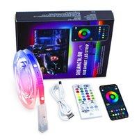 Strips USB LEDs Lights BT Dream Color RGB+I C TV Backlight With 40-Key Remote APP Control Music Sync Timer 16 Million Colors
