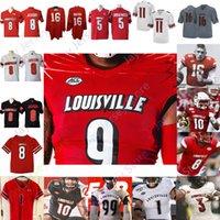 Louisville Football Jersey NCAA College Lamar Jackson Johnny Unitas Micale Cunningham Hawkins Tutu Atwell Fitzpatrick Alexander Braden Smith