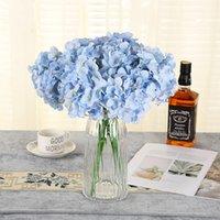 새로운 디자인 인공 실크 수국 꽃 머리 결혼식 꽃다발 장식 또는 DIY 생산 배경 F JLLRJI XMH_HOME 2143 V2