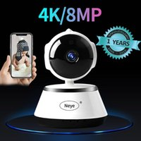 Caméras N_EYE Caméra intérieure 8MP 4K HD Smart Home Night Vision Nuit à 360 degrés Panoramique Panoramique Baby Monitor Monitor IP WiFi