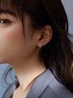 Sterling Silver Earrings Simple Ear Buckle Creativity 2021 Trendy Student Ins Wholesale Stud