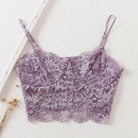 Women's Tanks & Camis Sexy Women 2021 Fashion Lace Crop Top Modern Lacy Hollow Out Camisole