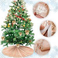 크리스마스 트리 스커트 로즈 골드 스파크 스팽글 나무 스커트 손수 홈 크리스마스 장식 LLB11396