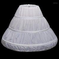 Skirts Girl White Petticoat A-Line 3 Hoops One Layer Kids Crinoline Lace Wedding Flower Dress Underskirt Tutu Skirt1