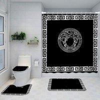 Gedruckt Klassik Design Duschvorhänge Wasserdichte Badezimmer Zubehör Multifunktionale Trennwand Vorhang Bad Türmatte