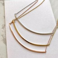 Popular fashion stainless steel gold smile necklace bijoux for lady Design women Party wedding lovers gift jewelry for Bride