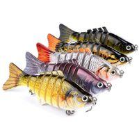Fishing Lures Wobblers Swimbait Crankbait Hard Bait Artificial Tackle Lifelike Lure 7 Segment 10cm 15.5g WLL864