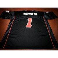 Kundenspezifische Bucht Jugendfrauen Vintage Ottawa Redblacks # 1 Henry Burris Football Jersey Größe S-5XL oder benutzerdefinierte Neiner Name oder Nummer Jersey
