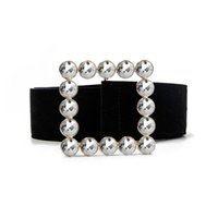 Bälten glitter rhinestone strass bälte lyx designer svart stor bred för kvinnor midja klänning tjejer kvinnlig kyskhet ceinture mode