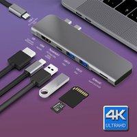 USB 3.1 HUB TYPE-C ADAPTATEUR HDMI 4K Thunderbolt 3 Hub USB C avec hub 3.0 TF SD Reader Slot PD pour MacBook Pro / AIR 2018 - 2020