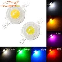 1W / 3W haute puissance LED blanc rouge bleu vert bleu jaune 100-120lm Perles de puce 4 lignes d'or Lampe de diode d'émetteur pour la lumière de bricolage