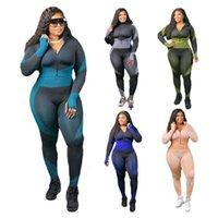 Womens Yoga Outfits Sportswear Two Piece Ensemble Suivi de Cardigan + Jambing Jacket Manteau + Pant Pant Pull Chemise Studio Suit Sport Costume KLW4656