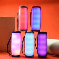 2021 Portable LED Bluetooth Speaker Wireless Waterproof FM Radio Mini Column Bass MP3 Subwoofer USB TV Sound Bar Box