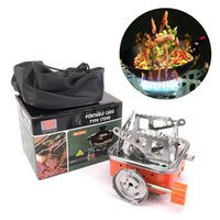 Mini square cooking stove camping Stainless Steel cookware portable folding small square stove outdoor survival stove