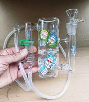 Cenillero de ceniza de vidrio de vidrio portátil reciclador Ashcatcher de mano Vaporizador Látigo 18.8mm Adaptador de etiqueta adaptador Tubo de silicona para fumar Dhzeusshop
