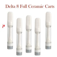 델타 8 카트 전체 세라믹 카트리지 vape 펜 카트 분무기 0.8ml 카트리지 510 스레드 스냅 팁 화이트 리드 무료 두꺼운 오일 전자 담배 1.0ml 빈 기화기