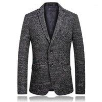 Novo Estilo Mens Clássico Moda Blazers Casual Slim Fit Vestido Blazer Homens de Alta Qualidade Business Blazers Rebicoo 011