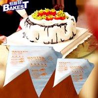 Ferramentas do bolo 100 PCS Saco de tubulação descartável Pastelaria de creme de creme de confeiteiro espremido transparente S / M / L