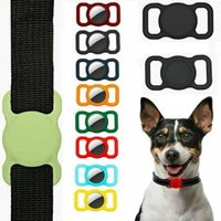 Pet Silicone Protective Case GPS Finder Dog Cat Collar Loop for Apple Airtags Locator Tracker Anti-lost Device