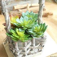 Dekorativa blommor kransar 2021 1pc konstgjorda växter falska succulent lotusblomma för kontor trädgård dekor DIY succulents växt hem decora