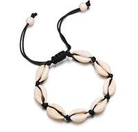 Trendy Handmade Sea Shell charm Bracelets For Women Bohemian beach Seashell String Rope chains Fashion Boho Jewelry