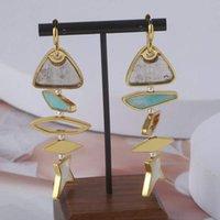 Top Qualité Drop Boucle d'oreille Forme de poisson avec une pièce de résine de couleur transparente et de dessin enaml pour femmes bijoux de mariage timbre cadeau PS4450