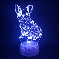 야간 조명 3D LED 램프 귀여운 강아지 피겨 아이들 야간 야간 휴가 생일 선물 파티 장식 블루투스 스피커 자식 선물 dropshipping