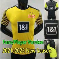 Vista fãs Versão Haaland Soccer Jersey 2021 2022 Reus Brandt Sancho 4th Camisas de futebol Bellingham Hummels Piszczek Schulz Guerreiro Moukoko Men Kids Kit