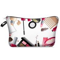 Digitaldruck Kosmetik Aufbewahrungstaschen für Frauen Makeup-Tasche Kupplung Hanging Travel Toilettenartikel Kit Schmuck Organizer Holder CCF5728
