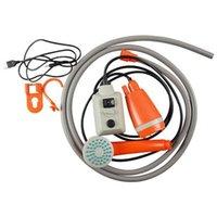 Taşınabilir kamp duş, USB şarj edilebilir pil ile kompakt duş pompası, el açık kafa çantaları