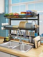 Kitchen Storage & Organization Dish Drying Rack Sink Organizer Utensil Holder Shelf Stainless Steel Drainer Pantry