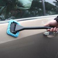 Limpiador de autos Limpiador Kit de cepillo Limpiador de parabrisas Limpieza de microfibra Auto Lavado de herramienta con esponja de mango largo