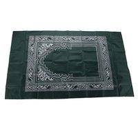 60 * 100 cm Muslimische Gebet Teppich mit Kompass wasserdicht Islamische Outdoor-Gebets-Teppich-tragbare muslimische Gebetsmatte Tolle Ramadan-Geschenk 375 S2