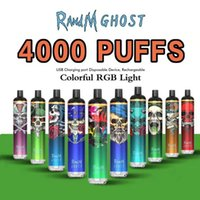100% Original Randm Ghost E-Zigarette Einweg-Pod-Gerät Kit 4000 Puffs 1000mAh-Wiederaufladbare Batterie Vorgefüllte 8 ml-Pods-Patrone Vape-Pen-Pen