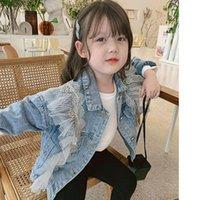 Jackets Children Denim Jacket Fashion Outwear Girls Outerwear Coat Kids Clothes 2021 Spring Autumn Windbreaker Cardigan For Girl 3 Years