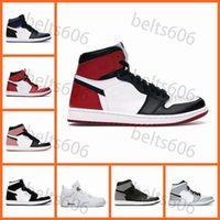 Basketball Chaussures Hommes Femmes Jumpman 1S High Og 1 Obsidian Noir Blanc Blanc Milieu Sumelle Gris 4s Cat Black Cat 4 Hommes Sports Sneakers