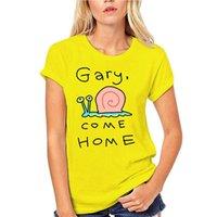 Herren T-Shirts Gary Come Home Snail Zeichnung Version Tshirts