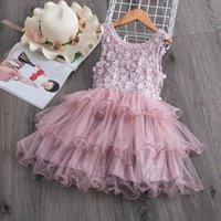 Girl's Dresses Little Girls Vest Dress Summer Causal Party Cupcake Tutu Vestidos Elegant Birthday Wedding Fancy Gown Size 3-8T Kid
